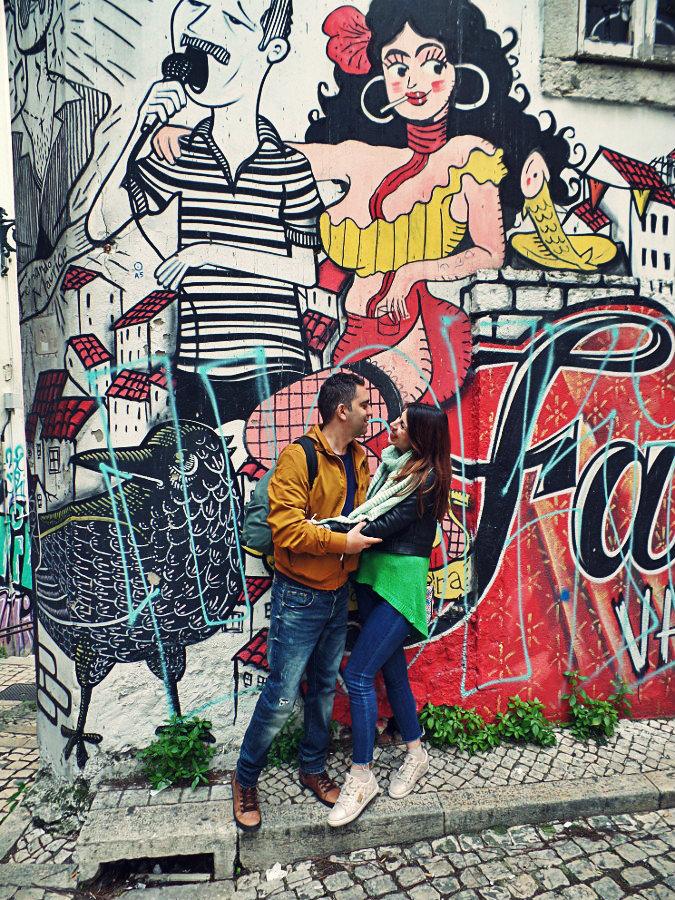 Grafitti in Alfama