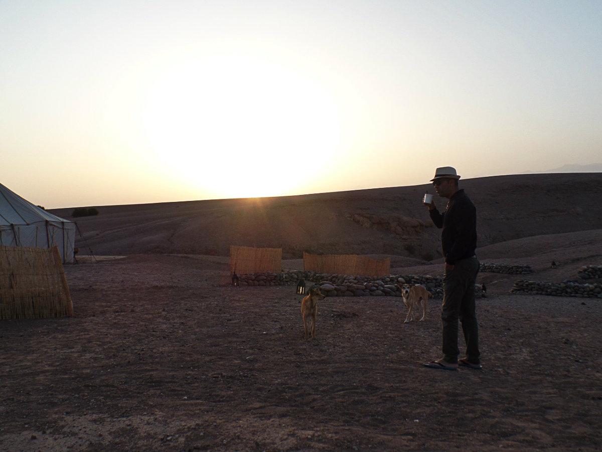 Ανατολή ηλίου στην Agafay
