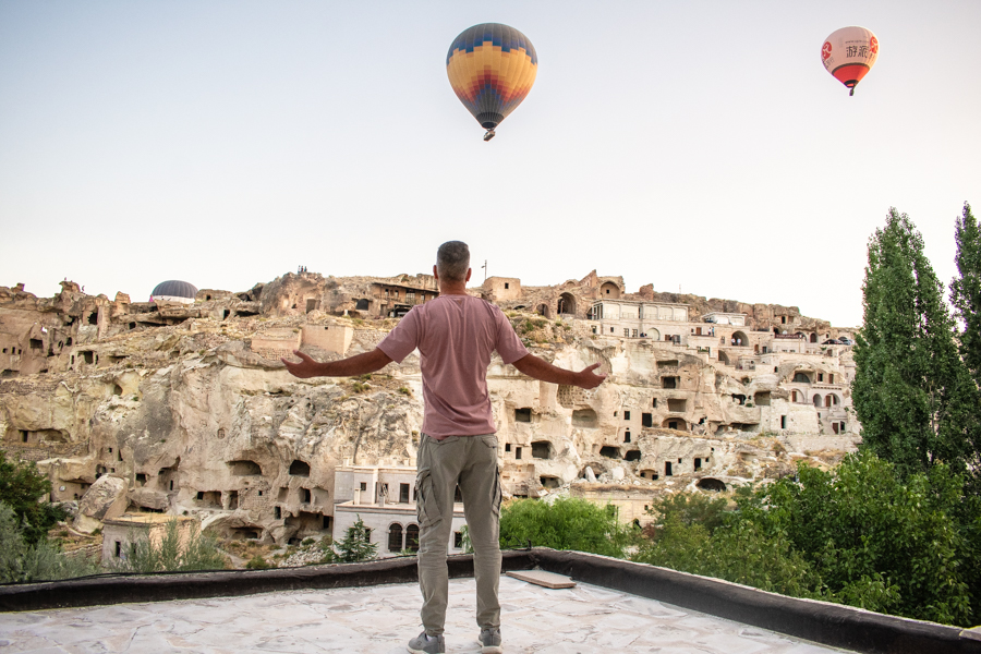 Καππαδοκία αερόστατα στον ουρανό